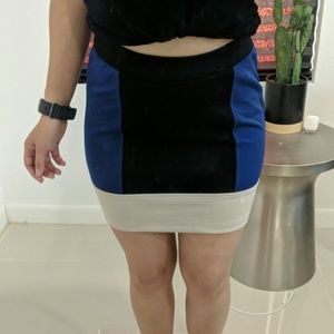 Forever 21 Color block fitted skirt